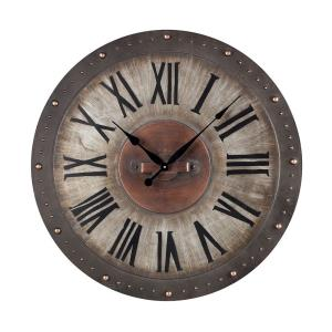 Traditional Style w/ ModernFarmhouse inspirations - Metal Roman Numeral Outdoor Wall Clock - 31 Inches tall 31 Inches wide