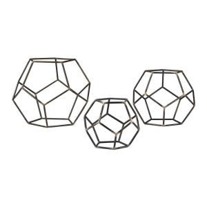 12 Inch Geometric Orb (Set of 3)