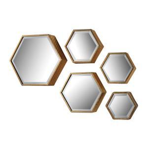Hexagonal - 16 Inch Mirror (Set of 5)