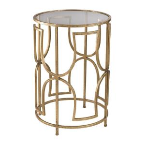 Modern Forms - Transitional Style w/ Luxe/Glam inspirations - Glass and Metal Accent Table - 20 Inches tall 14 Inches wide