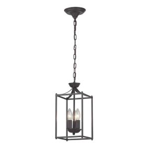 Arthur - Transitional Style w/ ModernFarmhouse inspirations - Glass and Metal 3 Light Pendant - 15 Inches tall 7 Inches wide