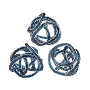 "6.1"" Glass Knot (Set of 3)"