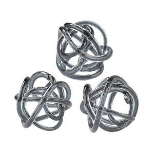 Glass Knots - Transitional Style w/ Luxe/Glam inspirations - Glass Glass Knot (Set of 3) - 6 Inches tall 6 Inches wide