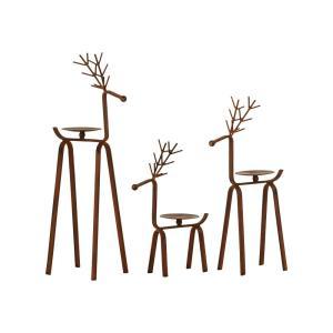 Timberland - 19.75 Inch Reindeer Pillar Holders (Set of 3)