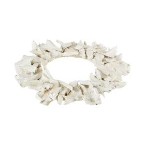 Kringle - Transitional Style w/ Coastal/Beach inspirations - Wood Decorative Wood Wreath - 33 Inches tall 33 Inches wide