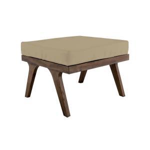 Teak - 24 Inch Square Outdoor Ottoman Cushion