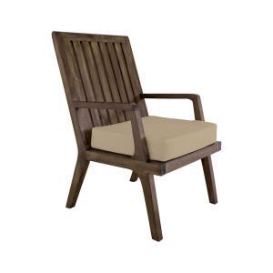 Teak - 20 Inch Outdoor Arm Chair Cushion