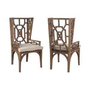 "Teak - 22"" Outdoor Wingback Chair Cushion"