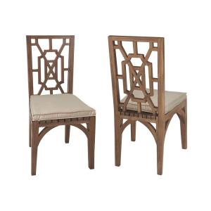 "Teak - 21"" Outdoor Garden Dining Chair Cushion"