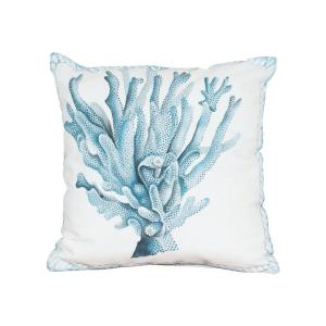 "Coral Hand Painted 20x20"" Outdoor Pillow"