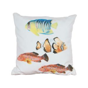"Fish 1 Hand Painted 20x20"" Outdoor Pillow"