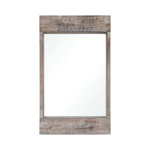 Dunluce - Transitional Style w/ Coastal/Beach inspirations - Fir Wood Mirror - 20 Inches tall 12 Inches wide