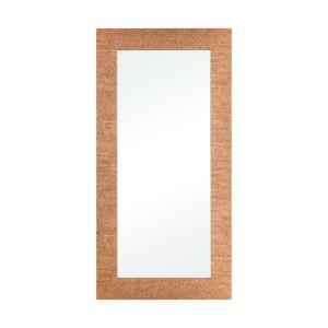 Cork - Transitional Style w/ Coastal/Beach inspirations - Cork and Mirror Rectangular Mirror - 67 Inches tall 33 Inches wide