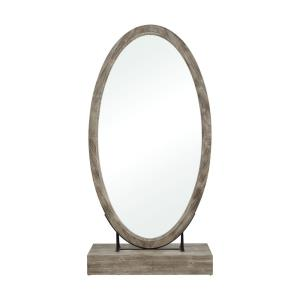 Sweetwater - Transitional Style w/ ModernFarmhouse inspirations - MDF and Wood Floor Mirror - 72 Inches tall 36 Inches wide