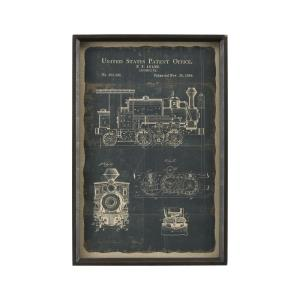 "Chronicle - 23.62"" Locomotive Framed Print"