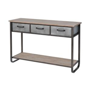Whitepark Bay - Transitional Style w/ ModernFarmhouse inspirations - Fir Wood and Metal Console - 31 Inches tall 47 Inches wide