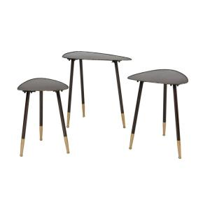Christian - Transitional Style w/ Mid-CenturyModern inspirations - Iron Accent Table (Set of 3) - 24 Inches tall 24 Inches wide