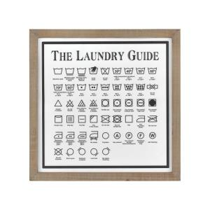 "Laundry Guide II - 19.68"" Wall Decor"