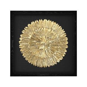 """Avery - 35"""" Feather Spiral Wall Art"""