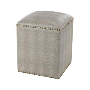 Beaufort Point - Transitional Style w/ Luxe/Glam inspirations - Metal and Wood Square Bench - 16 Inches tall 12 Inches wide