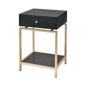 Comtesse - Transitional Style w/ Luxe/Glam inspirations - Linen and Metal Accent Table - 21 Inches tall 54 Inches wide