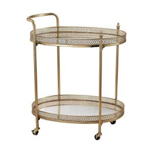 "Julep - 26.8"" Banded Oval Bar Cart"
