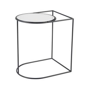 Thermo - Modern/Contemporary Style w/ Urban/Industrial inspirations - Glass and Metal Accent Table - 20 Inches tall 18 Inches wide