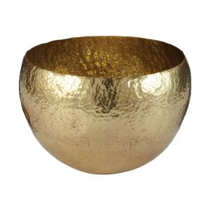 Gold Hammered - 13 Inch Large Bowl