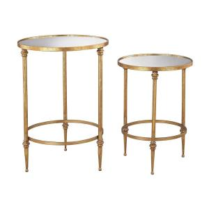 Alcazar - Transitional Style w/ Luxe/Glam inspirations - Metal Accent Table (Set of 2) - 25 Inches tall 18 Inches wide