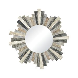 Charlevoix - Transitional Style w/ ModernFarmhouse inspirations - Fir Wood Wall Mirror - 32 Inches tall 32 Inches wide