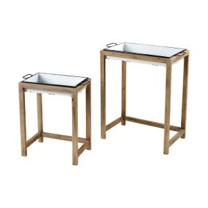 "Oyster Creek - 31"" Accent Table (Set of 2)"