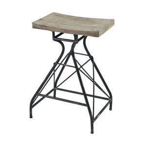 Paloma - Transitional Style w/ ModernFarmhouse inspirations - Metal and Wood Bar Stool - 28 Inches tall 19 Inches wide