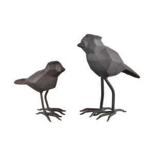 Pecking Order - 10 Inch Decorative Bird (Set of 2)
