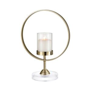 "Full Moon - 11"" Round Candle Holder"