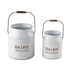Early Light - 12 Inch Decorative Pails (Set of 2)