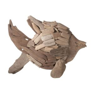 Driftwood - Transitional Style w/ Nature-Inspired/Organic inspirations - Mulberry Branch Angel Fish - 12 Inches tall 7 Inches wide