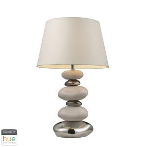 """Elemis - 23"""" 60W 1 LED Table Lamp with Philips Hue LED Bulb/Dimmer"""