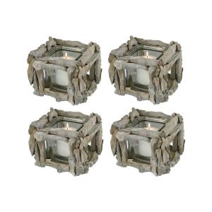 "Edgewood - 6.5"" Square Votive (Set of 4)"