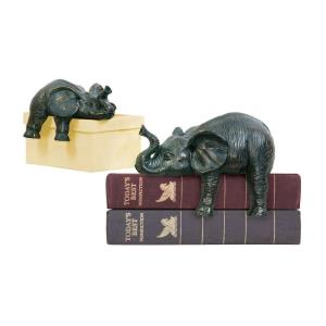 10 Inch Sprawling Elephant (Set of 2)