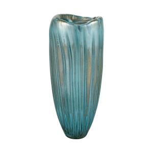 Sinkhole - Modern/Contemporary Style w/ Coastal/Beach inspirations - Glass Vase - 16 Inches tall 7 Inches wide