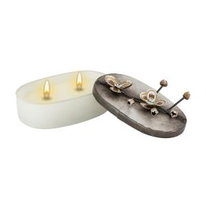"Lorelei - 5.75"" Double-Wick Wax Candle"