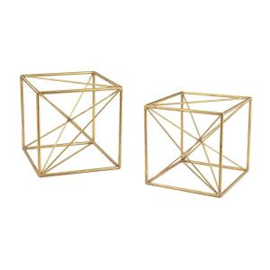 8 Inch Angular Study Decor (Set of 2)