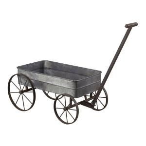 "42"" Metal Cart Planter with Handle"