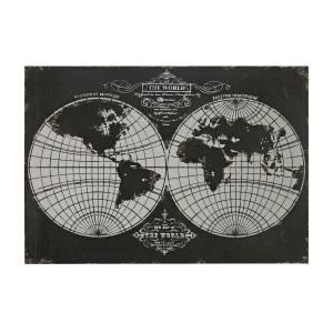 Laser Cut Map Of The Globe - 39 Inch Wall Art