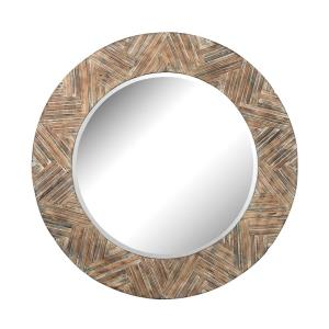 48 Inch Large Round Wood Mirror