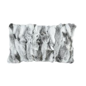 Heavy Petting - 20 Inch Genuine Rabbit Fur Lumbar Pillow