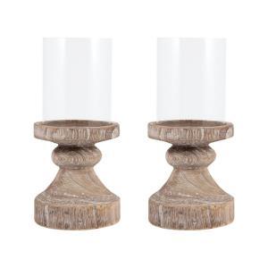 Timberline - 12.5 Inch Pillar Holder (Set of 2)
