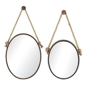 Mirrors on Rope - 23 Inch Oval Mirror (Set of 2)