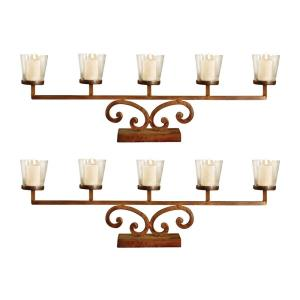 "Prairie - 25.75"" Votive Mantle Lighting (Set of 2)"