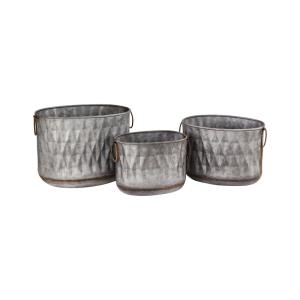 Bailey - 14.5 Inch Oval Planters (Set of 3)